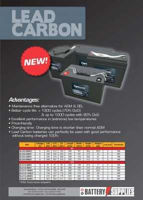 NEW: Lead Carbon batteries...