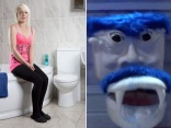 The woman who has a phobia of toilets