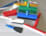 Colour coded cleaning equipment from Brosserie Thomas