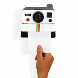Polaroll - a toilet tissue dispenser shaped like a Polaroid camera
