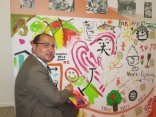 Visitors to ISSA/Interclean demonstrate their artistic side