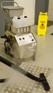 Dry steam vapour suitable for food area cleaning says OspreyDeepclean