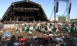 Army of cleaners move in to clear Glastonbury of festival rubbish