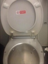 Don't drink from toilet bowls, warns train company
