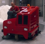 RCM Combo ride-on sweeper has many functions
