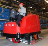 Tera - latest ride-on scrubber dryer from RCM