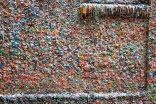 Iconic 'gum wall' gets first clean in decades