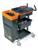 Diversey Care TASKI trolley system has over 100 accessories