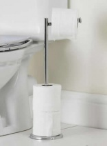 Woman impaled on toilet roll holder
