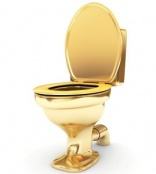 Guggenheim's 18-carat gold toilet ready for use