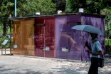 Transparent toilets open in Tokyo parks