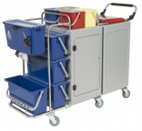 Adaptable trolleys from Crisp Clean at ISSA/INTERCLEAN